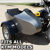 KTM RocketTeer Old School Biker Side Car Motorcycle Sidecar Kit
