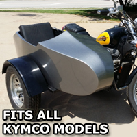 Kymco RocketTeer Old School Biker Side Car Motorcycle Sidecar Kit