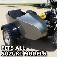 Suzuki RocketTeer Old School Biker Side Car Motorcycle Sidecar Kit