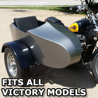 Victory RocketTeer Old School Biker Side Car Motorcycle Sidecar Kit