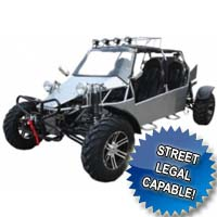 1000cc Super Sand Sniper Go Kart - 4 Seater & Street Legal Capable!