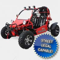 400cc Sand Sniper Dune Buggy 4 Stroke Go Kart - Street Legal Capable!