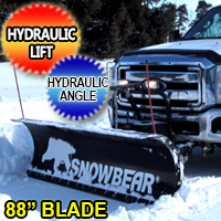 "88"" SnowBear Hydraulic Personal Snow Plow System With Mounting Brackets"
