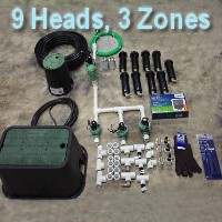 Brand New DIY 3 Zone Lawn Sprinkler Kit Version 4