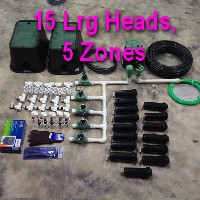 Brand New DIY 5 Zone Lawn Sprinkler Kit Version 4