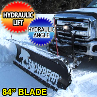 "84"" SnowBear Hydraulic Personal Snow Plow System With Mounting Brackets"