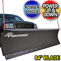 "84"" SnowBear Hydraulic Electric Snow Plow With Power Angle"