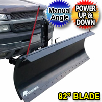 "82"" SnowBear ProShovel Electric Snow Plow With Manual Angle"