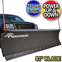 "82"" SnowBear Snow Plow Electric Snow Plow With Manual Angle"