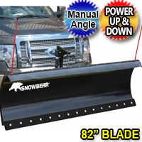 "82"" SnowBear Winter Wolf Electric Snow Plow With Manual Angle"