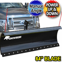 "84"" SnowBear Winter Wolf Electric Snow Plow With Manual Angle"