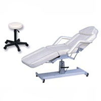 Hydraulic Lift Facial Chair with Stool for Spas