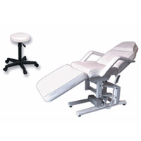 Electric Facial & Massage Chair with 3 Motors plus Stool