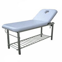 Solid Massage Bed with Metal Frame & Towel Holder