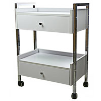 Salon Cart with Two Drawers