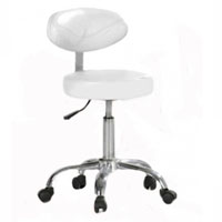 Hydraulic Stool with Curve Backrest Professional Beauty Stool