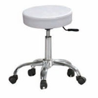 Hydraulic Chrome Beauty Stool