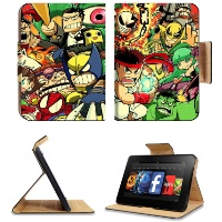 Cartoon Ultimate Marvel Vs Capcom Amazon Kindle Fire HD 7 Flip Case Stand Magnetic Cover Customized