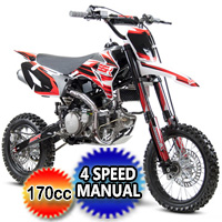 170cc Manual Kick Start Dirt Bike - SR170TR