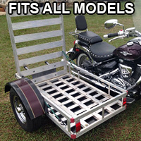 Motorcycle Sidecar Handicap Side Trailer Fits, Harley Kawasaki Honda Yamaha - Fits All Models