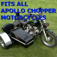 Apollo Chopper Side Car Motorcycle Sidecar Kit