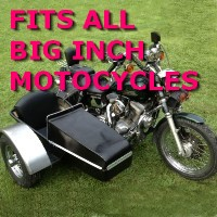 Big Inch Chopper Side Car Motorcycle Sidecar Kit
