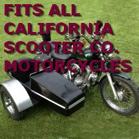 California Scooter Co. Side Car Motorcycle Sidecar Kit