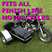 Finish Line Side Car Motorcycle Sidecar Kit