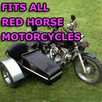 Red Horse Side Car Motorcycle Sidecar Kit
