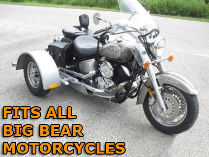 Big bear motorcycle trike kit fits all models this do it yourself motorcycle trike kit allows you to convert your motorcycle into a trike it is fully adjustable to the width height and length solutioingenieria Image collections