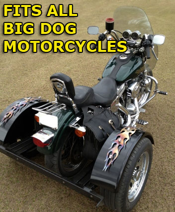 Big dog motorcycle trike kit fits all models this do it yourself motorcycle trike kit allows you to convert your motorcycle into a trike it is fully adjustable to the width height and length solutioingenieria Choice Image