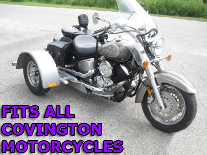 Covington motorcycle trike kit fits all models this do it yourself motorcycle trike kit allows you to convert your motorcycle into a trike it is fully adjustable to the width height and length solutioingenieria Choice Image