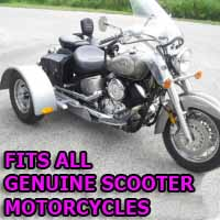 Genuine Scooter Motorcycle Trike Kit - Fits All Models