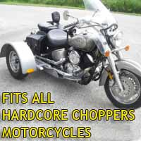 Hardcore Motorcycle Trike Kit - Fits All Models