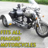 Piaggio Motorcycle Trike Kit - Fits All Models