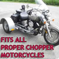 Proper Chopper Motorcycle Trike Kit - Fits All Models