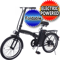 "20"" 250W 36V Electric Folding E-Bike Mountain Bicycle w/Lithium Battery"
