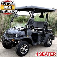 Brand New Gas Golf Cart UTV Hybrid Linhai Big Hammer 200 GVX Side by Side UTV With Custom Rims/Tires - Black