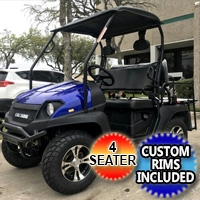 Brand New Gas Golf Cart UTV Hybrid Linhai Big Horn 200 GVX Side by Side UTV With Custom Rims/Tires
