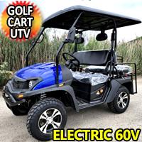 New Electric Golf Cart Hybrid UTV HJS 60v Electric EV5 UTV Utility Vehicle - Red