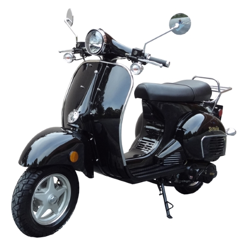 150cc aeolus st marlo classic retro gas moped scooter. Black Bedroom Furniture Sets. Home Design Ideas
