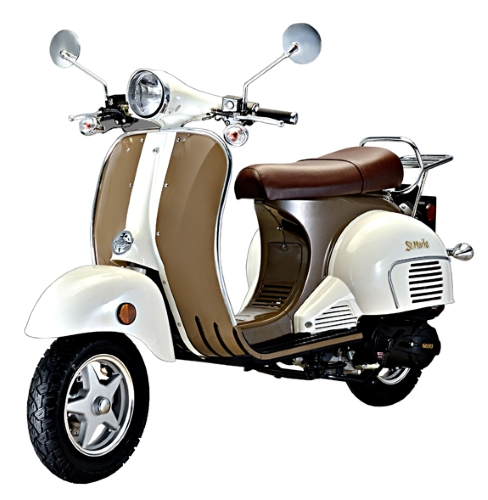 50cc aeolus st marlo classic retro gas moped scooter. Black Bedroom Furniture Sets. Home Design Ideas