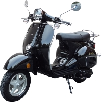 150cc Aeolus St. Marlo Classic Retro Gas Moped Scooter