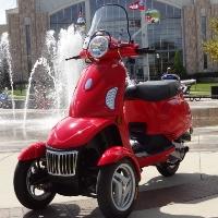 T-Rider 49cc Three-Wheel Trike Scooter Moped