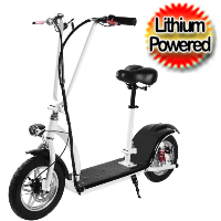 36v 350 Watt Folding Electric Scooter With Seat & Lithium Batteries