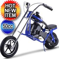50cc Mini Gas 2 Stroke Chopper Half Size Motorcycle