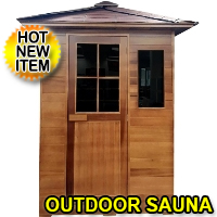 3 Person Outdoor FIR Far Infrared Canadian Red Cedar Sauna Backyard SPA