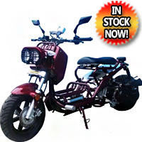 "Brand New 50cc Rat Rod 2 Cruiser Bike Scooter Moped Bicycle w/ Large 12"" Rims"