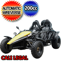 Brand New 200cc ARROW Go Kart Air Cooled 4 Stroke Go Kart