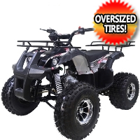 "125cc TForce Utility ATV 4 Wheeler with Automatic Transmission w/Reverse, LED Headlights & 19""/18"" Alloy Rim/Tires"